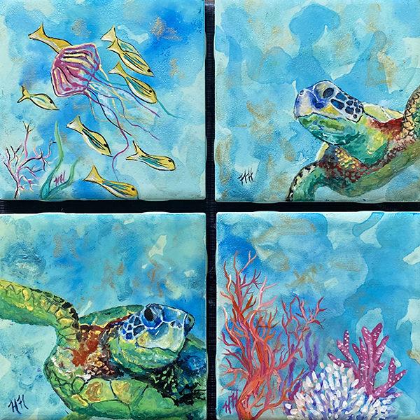 Under Da Sea coaster set by Heather Hodgeman