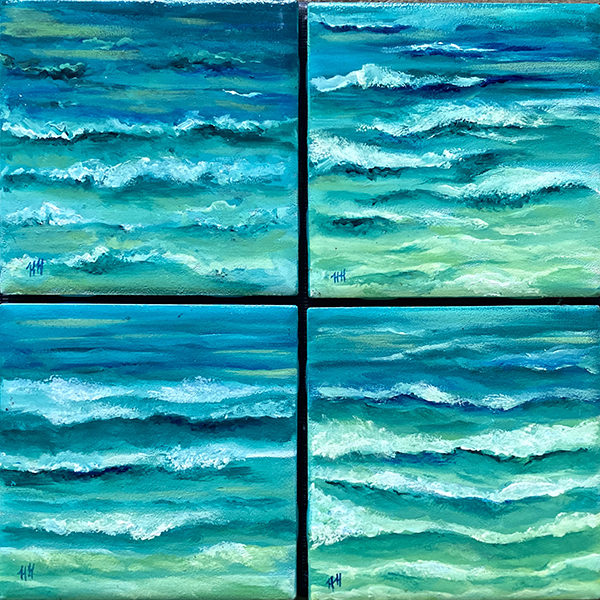 Waves of Delight coaster set by Heather Hodgeman