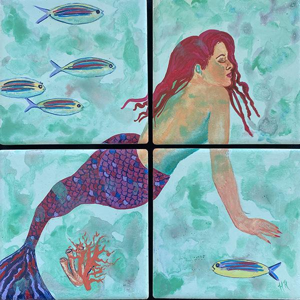 Mermaid coaster set by Heather Hodgeman