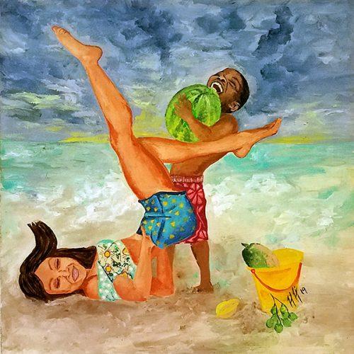 beachplay by Heather Hodgeman