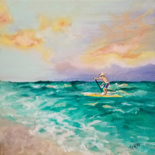 paddle-boarding by Heather Hodgeman